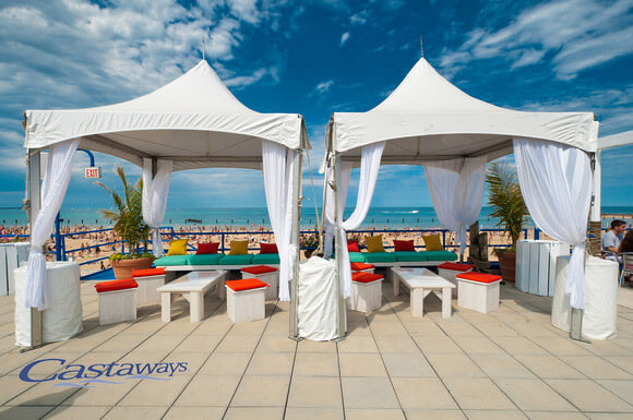 Castaways Chicago Cabanas are perfect a private summer party!