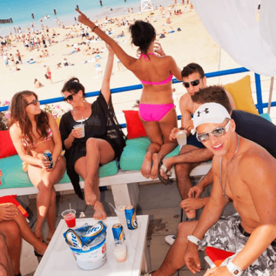 Book a private cabana for your crew