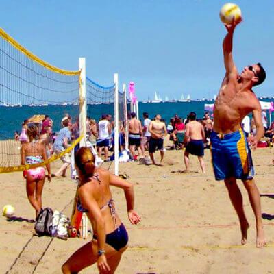 Refuel at castaways after a beach volleyball game